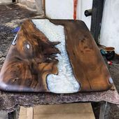 Table Collection epoxy wood wood epoxy resin moder…