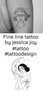 Fine Line Tattoo von jessica joy #tattoo #tattoodesign #tattooideas #tattoofrauen #finelinetattoo 20