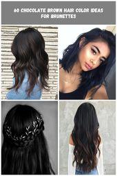 Black Hair with Subtle Brown Highlights #black hair 60 Chocolate Brown Hair Colo…