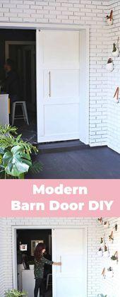 Modern Barn Door Diy Modern Barn Door Diy Door Diy Barn Door