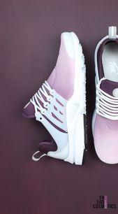 Zapatillas Nike Presto Custom granate – Diseño de Ombre – TheShoeCosmetics   – Turnschuhe