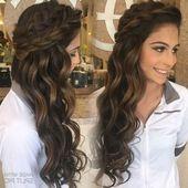 Bruiloft kapsels voor lang donker bruin haar | Vrouwelijk kapsel   – Long Hairst…