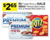 Ritz Crackers 10.3 oz. or Nabisco Premium Saltine …