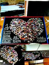 The Heart Shaped Photo Collage 1st Anniversary Gift Source by iremszgn2005