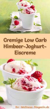 Einfaches Low Carb Himbeer-Joghurt-Eis selber machen – gesundes Eis-Rezept