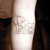 40 schöne und niedliche Elefant Tattoo Design # diseño #elefant #niedliche #scho …  – Trendy Tattoos