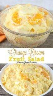 Orange Dream Fruit Salad Dieser Orangentraum Obstsalat Ist Ein