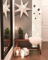 #Eingang #Flur #Wandfarbe #Dekoration #Winter #Spiegel