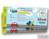 Transport Ticket Einladung DRUCKBARE  Bordkarte Geburtstag einladen für junge /…