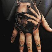 Ideas hermosas del tatuaje de la mano para los hombres – Mejores tatuajes de la mano para los hombres: Cool H   – Tätowierungen