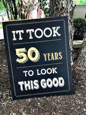 50th birthday party ideas for men – Buscar con Google