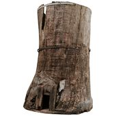Extra Large 19th Century Extra Large Tree Trunk Planter/Sculpture