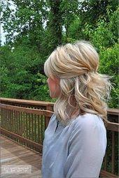Inspirational Braut Haar halb oben halb unten Schulter Länge – Neue Haare Modelle