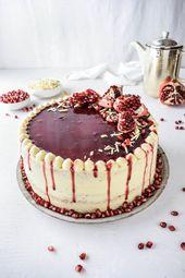 Granatapfel-Schokoladenkuchen Rezept für super leckere weiße Schokolade …   – Süßes