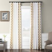 EFF Trophy Embroidered Faux Silk Taffeta Window Curtain