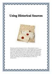 History: Using Historical Sources