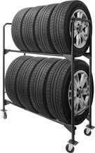 Renegade 1 600 Lb 2 Tier Mobile Tire Rack From Princess Auto