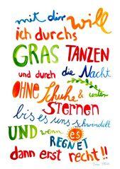 Print *Mit Dir* von Frau Ottilie