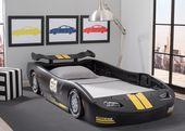 Turbo Race Car Twin Bed, Black