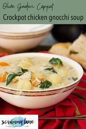 Simple crockpot rooster gnocchi soup (Olive Backyard copycat, with stress cooker)