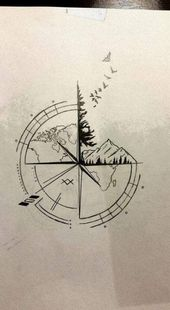 Best Travel Drawing Compass Tattoo Designs Ideas | Ladies Trend – Tattoo