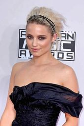 Creative bi-color New Year's Eve hairstyle by Dianna Agron Dianna Agron short hairstyle for New Year's Eve