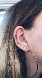 Neueste Ohrpiercings für Frauen schöne und süße Ideen, Piercings Ohr daith mig ...
