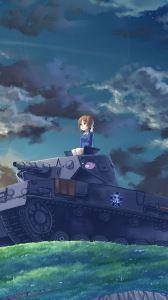 Preview Wallpaper Girls Und Panzer Nishizumi Miho Tank Hill Girl 1440x2560 Anime Warrior Girl Anime Wallpaper Cool Anime Wallpapers