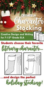 Create a Character Stocking {A Inventive Design and Writing Vacation Exercise}