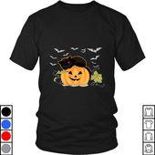 Teeecho Cute Cat Pumpkin Herren Damen Lustiges Halloween Kostüm Geschenk T-Shirt, Sweatshirt, Hoodie für Herren & Damen