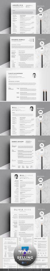 Illustrator Resume 7 Top Selling Resume Bundle