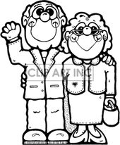 32++ Grandparents day clipart black and white ideas