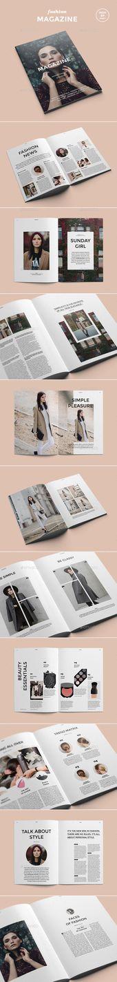 Magazine de mode – Modèles d'impression de magazines   – catalogue