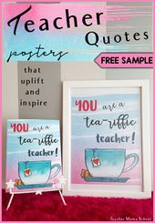 Trainer Quotes Poster { Watercolor } FREE SAMPLE