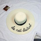 Letter Embroidery Straw Hat – Straw Hat