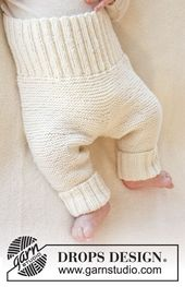 """Pantalon DROPS en maille DROPS de """"Baby Merino"""". Taille des prématurés jusqu'à 4 ans. ~ DROPS design   – Anziehsachen"""