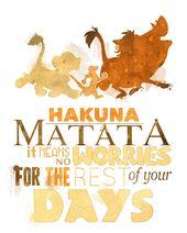Hakuna Matata! Der nächste in der Serie, wie ange…