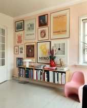 pink on pink, gallery wall
