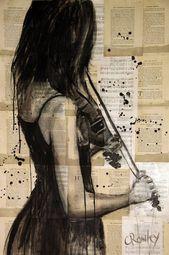 """Saatchi Art Artist darren crowley; Malerei, """"der Geiger"""" #art – #Artist #crowley #darren #geiger"""