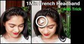 1 Min Französisches Stirnband mit Trick // Zopffrisuren für mittellange bis lange Haare // Indi ..., #Französisch ...