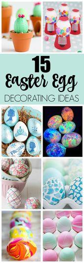 15 kreatives Osterei, das Ideen verziert