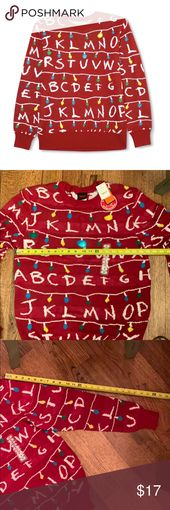 🎄NWT Stranger Things Christmas Sweater Men's M🎄 NWT Men's M Stranger T…