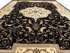 Seiden Teppich Carpet Schwarz 290x200 Medusa Versac Perser Orient