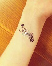 Meaningful Tattoos Ideas – Family Tattoo Small Tattoo Heart Paw – T …
