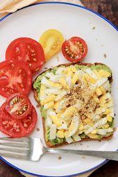Frühlings- und Sommer-Avocado-Toast – Samantha Trend Life #eggmeals Frühling…