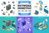 Data Network Technology Isometric by TAlex on Creative Market