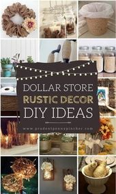 50 Dollar Store Rustic Home Decor Ideas #Rustic #DIY #DollarTree #RusticHomeDeco…