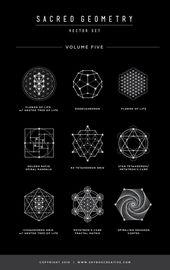 Sacred Geometry Vector Illustrations – Vol. 5 Naming Information  #SacredGeometry #Met…