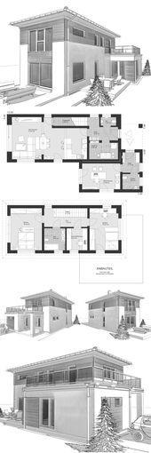 Einfamilienhaus im Landhausstil, schmaler Grundriss mit Walmdach & Büroverlängerung – Ar …   – Anbau Landhausstil