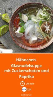 Hähnchen-Glasnudelsuppe – essen